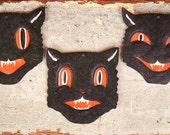 Antique Halloween 1920s Die Cut Black Cat