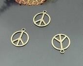 25 pcs 17.5mm Antique bronze Peace Signs symbols charms Pendants a2f24-17900