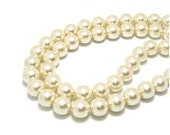 40 pcs 10mm vintage Faux Pearl beads ivory white round Glass Ball Beads 2297a0y91