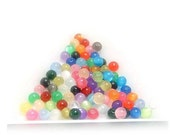 100pcs 4mm Mix Colors Multicolored Resin Round Smooth Imitation Cat Eyes Balls Beads 0227a5j11
