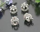 10 pcs 13x12mm Antique silver 3D Princess Crowns charms pendants G12780