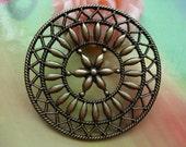 5 pcs 47mm Antique Bronze Vintage Filigree Huge Round Flower Base Connectors Charms Pendants g33920