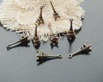 20 pcs 8x23mm Antique Bronze 3D eiffels Towers Charms Pendants 0545a1d12