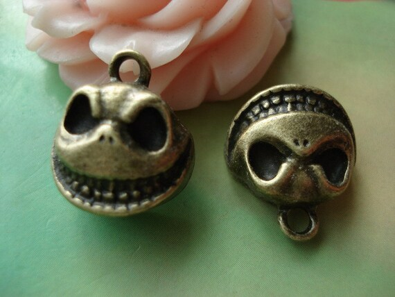 10 pcs 16x14mm Antique Bronze Lovely 3D Small Grimaces Clown Face Charms Pendants g52561