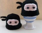 Amigurumi Ninja Egg Cozies.