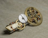 Wire Wrapped Steampunk Brooch 'Time Smith'