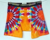 Father's Day Boxer Briefs Large Orange Hearts Golden Yellow Turquoise Fuschia Purple Lilac Sky Blue Periwinkle 2tiedye4