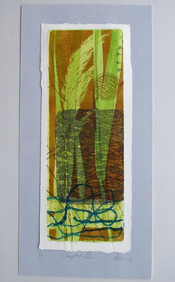 OOAK fine art print, eco art. reed bed regeneration