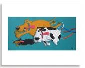 Funny Dog Art Print, Dog Lover, Vet Office Art, Veterinarian Decor, Happiness Art, Dog Humor, Pet Owner Gift, Animal Clinic Art, Vet's Gift