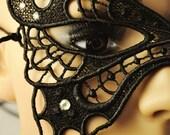 Jet Black Butterfly Mask
