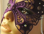 Beautiful Purple Butterfly Lace Mask