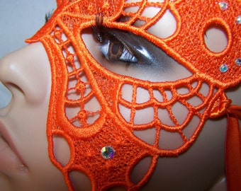 Beautiful Orange Butterfly Mask
