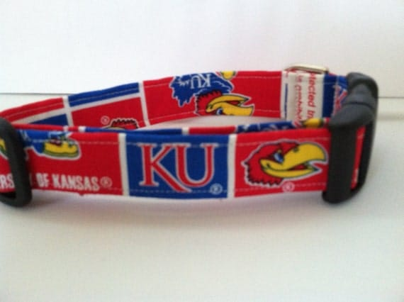 Kansas University dog collar..... Your choice of size