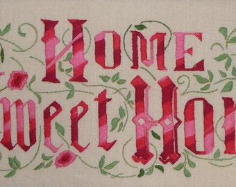 Jane Snead Samplers Vintage Embroid ery Kit 322 Home Sweet Home