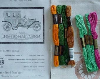 Jane Snead Samplers Vintage Embroidery Kit 462 1909 Thomas Sampler