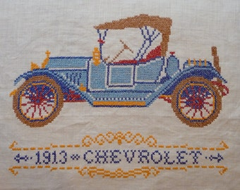 Jane Snead Samplers 464 1913 Chevrolet Vintage Cross Stitch Embroidery Kit