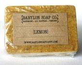 Lemon Soap . Exfoliating Soap . All Natural Soap . Handmade Soap . Unscented Soap . Vegan Friendly Soap