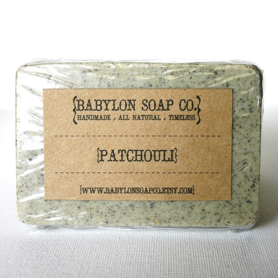 Patchouli Soap . Exfoliating Soap . All Natural Soap . Handmade Soap . Unscented Soap . Vegan Friendly Soap