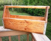 Rustic Carpenters Tool Box with Metal Banding from Reclaimed Barnwood NEW STYLE