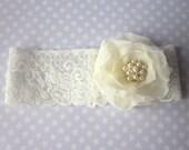 Ivory Garter Set / Wedding Garter including toss Garter - Stardust Bridal Garter (Single Garter) duo garter also available
