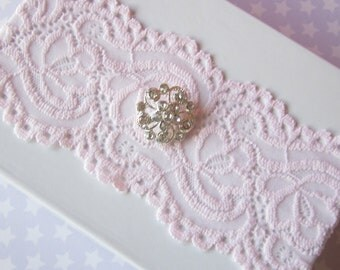 Simply Chic Bridal Garter - Soft Pink - Special Offer for Limited Time ONLY 15% Off