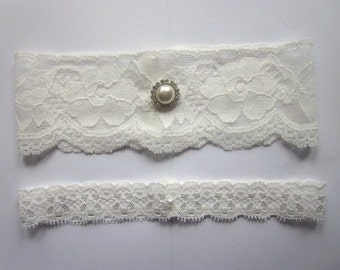 Bridal Garter Set  - Special Offer for Limited Time ONLY 20% Off -  Simply Chic Ivory Garter Set - The Original Simply Chic Garter