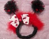 Ladybug Headband Ladybug Hairbow with Antenna
