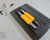 Fitted Double Barrel Yellow Ink Strap for 8.5-inch journal or moleskine notebooks.