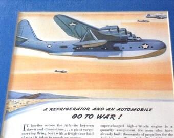 1943 Nash Kelvinator Ad - WWII Advertising - Watch Out Mr Hitler
