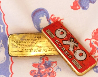 Decorative Tin Formerly Held OXO Cubes Free Shipping