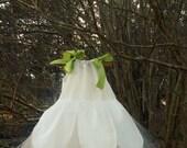 Ballerina Princess Flowergirl Wedding Pillowcase Tutu Dress with Petals, Sizes 1, 2, 3 (sewn)