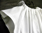 Christening Baptism Dedication Gown Soft White Lace with Angel - Upcycled