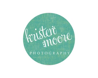 Premade Logo Design for Photographers and Small Crafty Boutiques Textured Circle with Text