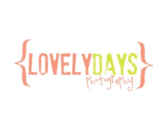 Premade Logo for Photographers and Small Crafty Boutiques Rustic Text with Brackets