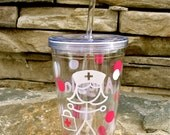 16 oz. Personalized Nurse Insulated Cup