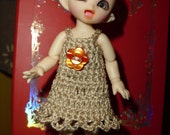 Crochet dress for Bjd Fairyland Pukipuki (or similar size)