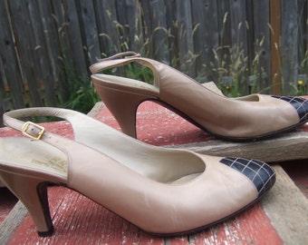 Salvatore Ferragamo Checkered slingback heels