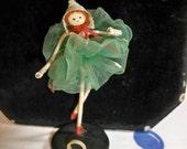 Wonderful 1930's-40's vintage doll place card holder ballerina made in japan