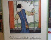 Art Deco 1925 The women's Institute Fashion Book, cloche hat instruction, flapper fashions photos illustrations
