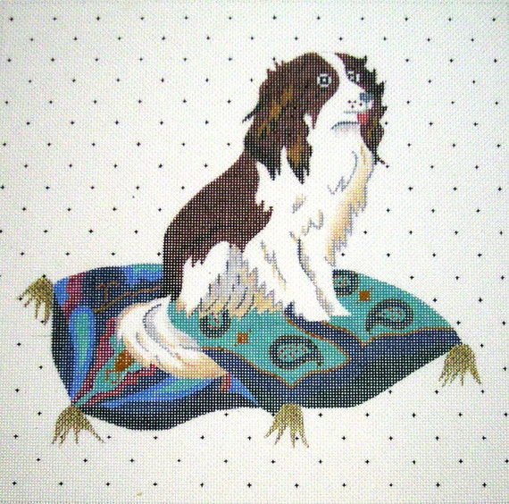 Needlepoint Dog Canvas - Victorian King Charles Spaniel - SALE