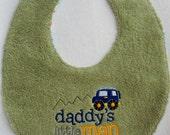 Daddy's Little Man Baby Bib