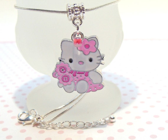 Darling Pink Hello Kitty Charm Necklace