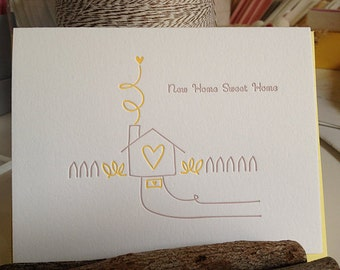 House Warming or New Home card - letterpress card