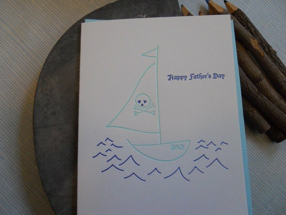 Father's Day Card - Pirate ship