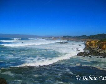Digital photo, giclee print, 5x7, Beach in Mendocino, CA
