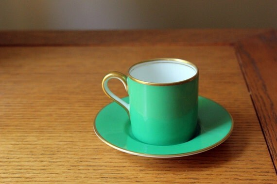 Bright Noritake Demitasse Cup and Saucer 1930s Vintage