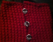 Button Cowl in Red Bamboo