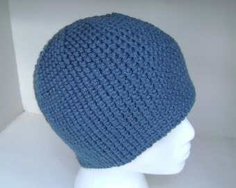 Crochet Hat  Beanie  Skullcap  Men  Women  Teen  Antique Teal