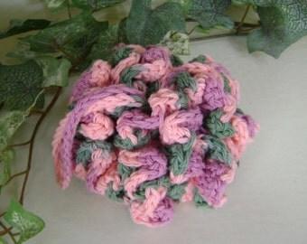 Crochet Scrubbie Shower Bath Spa Poof Washcloth Wash Cloth Dish Cloth Scrubby