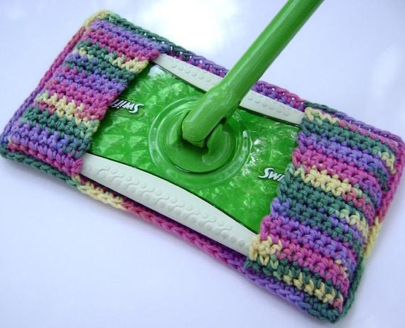 Crochet Swiffer Type Mop Cover  Reusable
